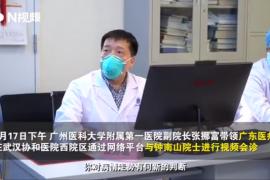 钟南山谈新型冠状病毒肺炎疫情峰值 估计4月底基本稳定