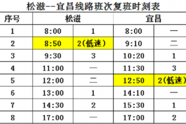 4月10日,松滋至宜昌906城际公交恢复运营