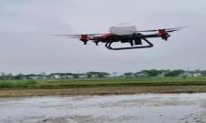 无人机播种技术 松滋市首亮相2分钟1亩地!