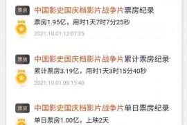 长津湖电影:《血战长津湖》破6亿 打破11项影史纪录